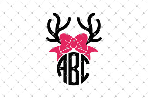 Antlers Monogram SVG Cut Files at SVG Cut Studio