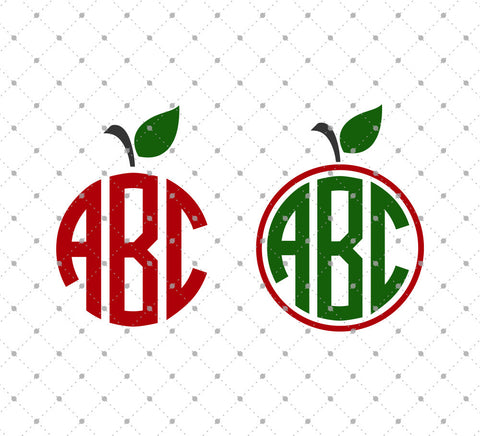 Apple Monogram Frames SVG Cut Files D3 at SVG Cut Studio for Cricut Explore Silhouette Cameo free svg files