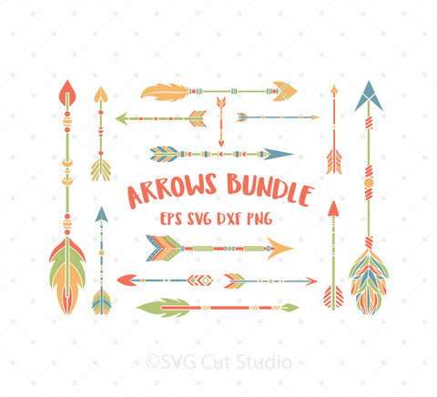 SVG files for Cricut Arrows Bundle SVG Cut Files Silhouette Studio3 files PNG clipart free svg by SVG Cut Studio