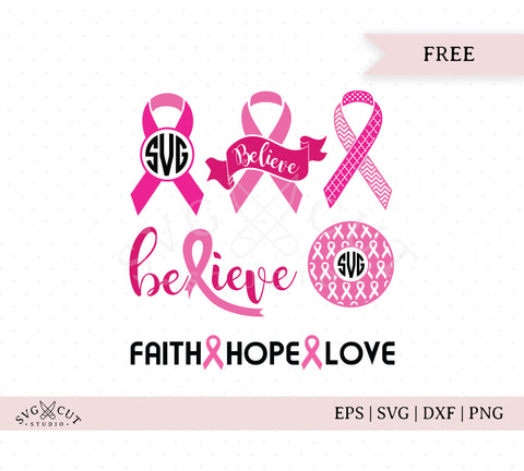 Free Awareness Ribbon SVG Cut Files