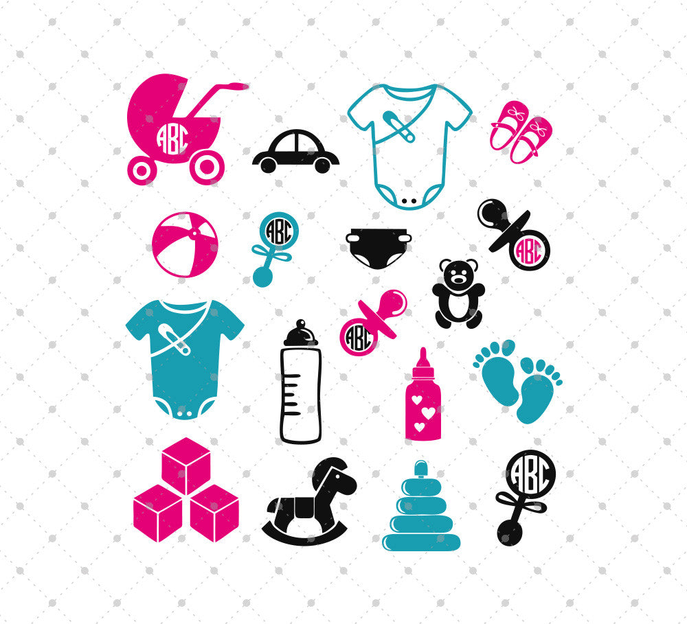 Baby Items SVG Cut Files - SVG Cut Studio