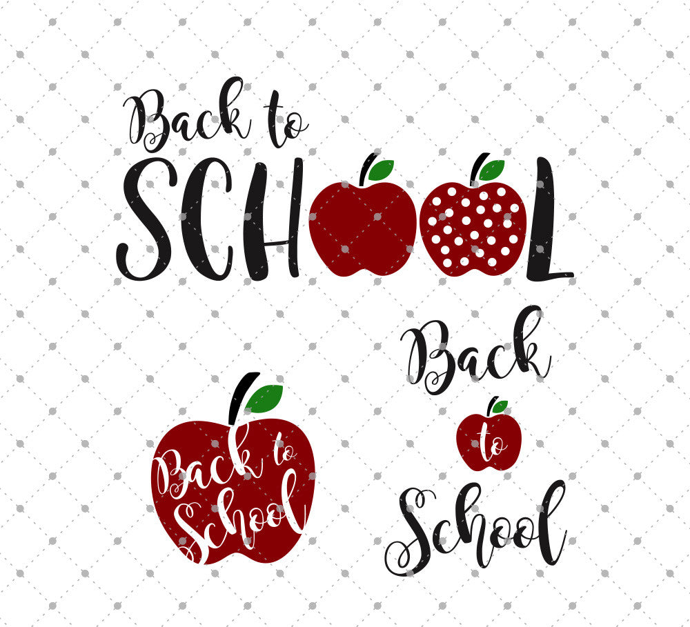 Back to School SVG Cut Files D1
