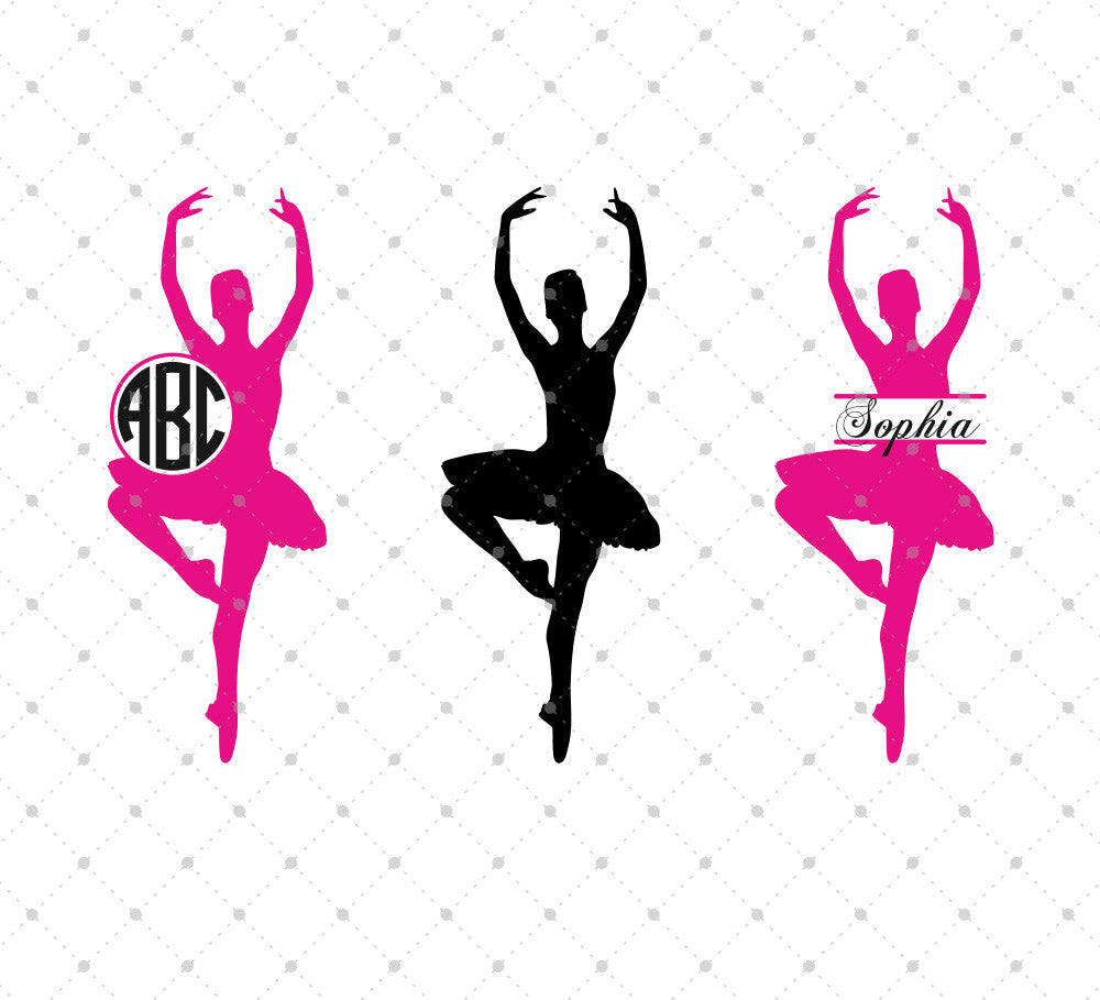 Ballerina SVG Cut Files for Cricut Silhouette printable png dxf clipart and free svg files by SVG Cut Studio