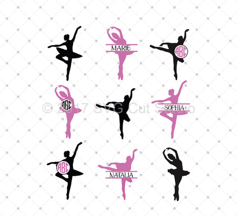 Ballerina SVG Cut Files - SVG DXF PNG cut cutting files for Cricut and Silhouette by SVG Cut Studio