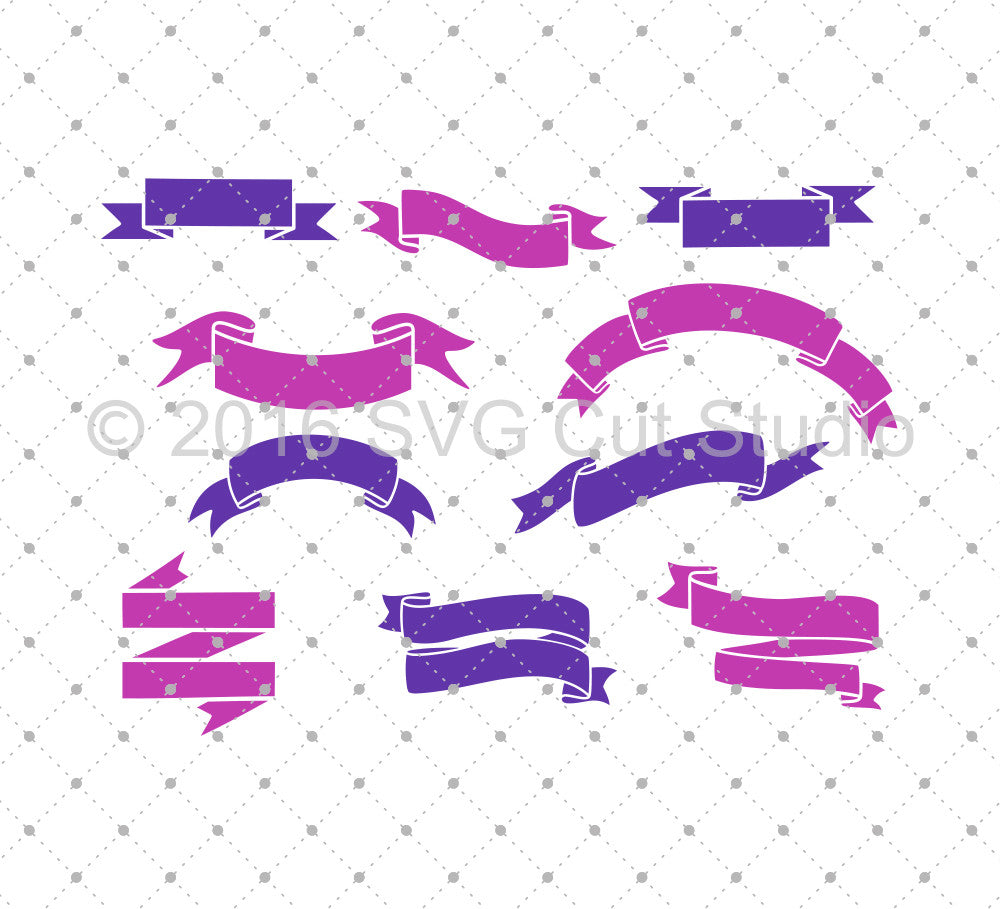 SVG files for Cricut Ribbon Banners SVG Cut files Silhouette Studio3 files PNG clipart free svg by SVG Cut Studio