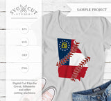 Georgia State Flag Baseball SVG PNG DXF Files