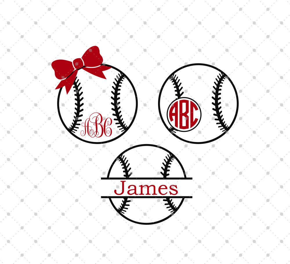 Baseball Ball SVG Cut Files