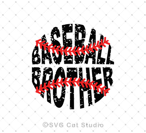 SVG files for Cricut Baseball Brother SVG cut files Silhouette Studio3 files PNG clipart free svg by SVG Cut Studio