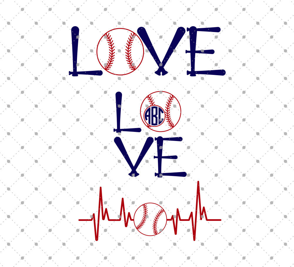 Baseball Love SVG Cut Files