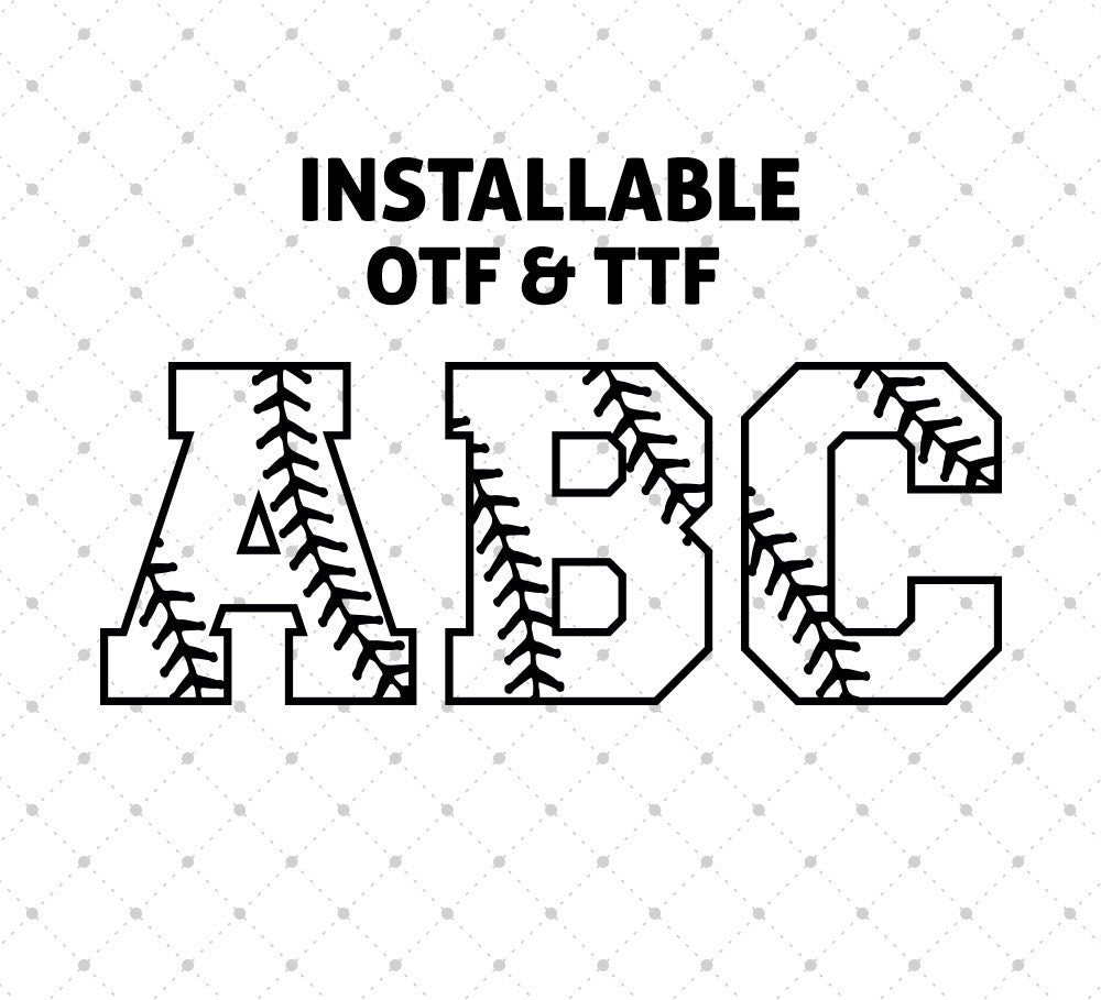 Installable Baseball Stitches Font