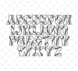 Installable Baseball Stitches Font at SVG Cut Studio