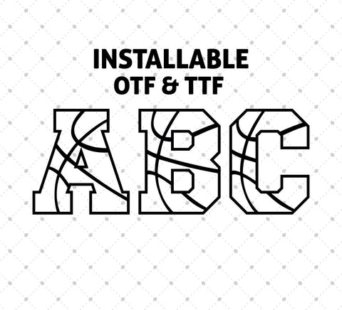 Installable Basketball Font