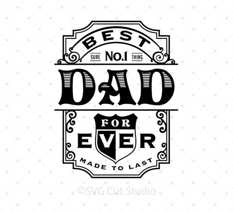 SVG files for Cricut Best Dad Ever SVG PNG DXF EPS Cut Files Silhouette Studio3 files PNG clipart free svg by SVG Cut Studio
