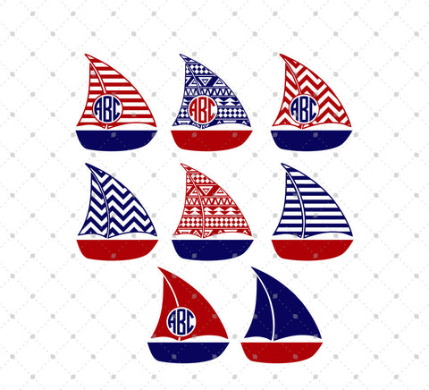 Patterned Boat SVG Cut Files