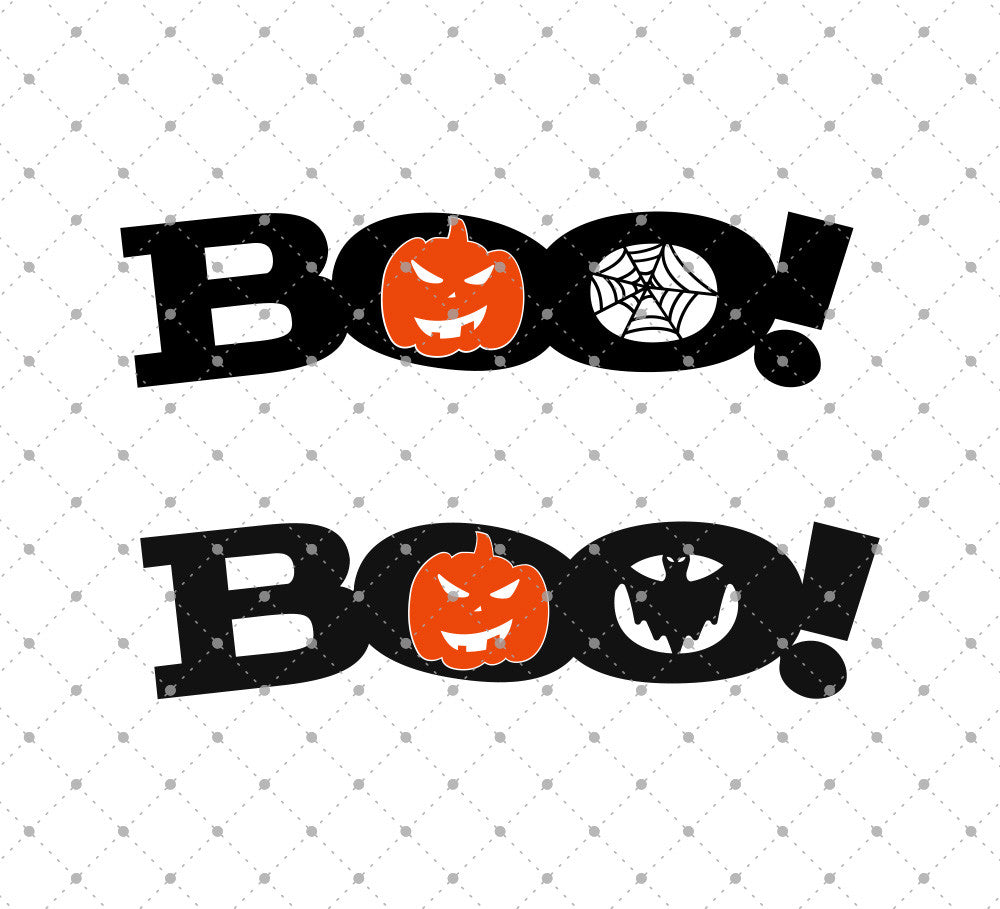 Boo Halloween SVG Cut Files - SVG DXF PNG cut cutting files for Cricut and Silhouette by SVG Cut Studio