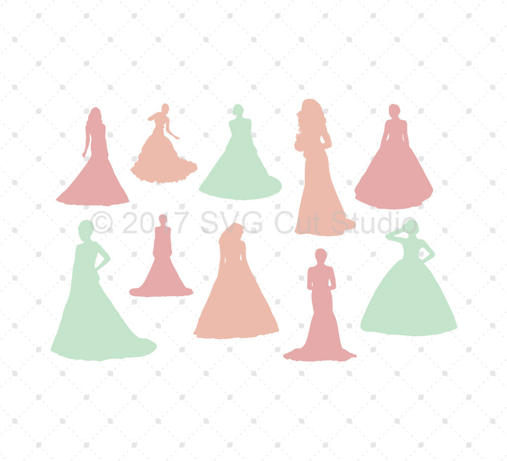 Bride Silhouette SVG Cut Files - SVG Cut Studio