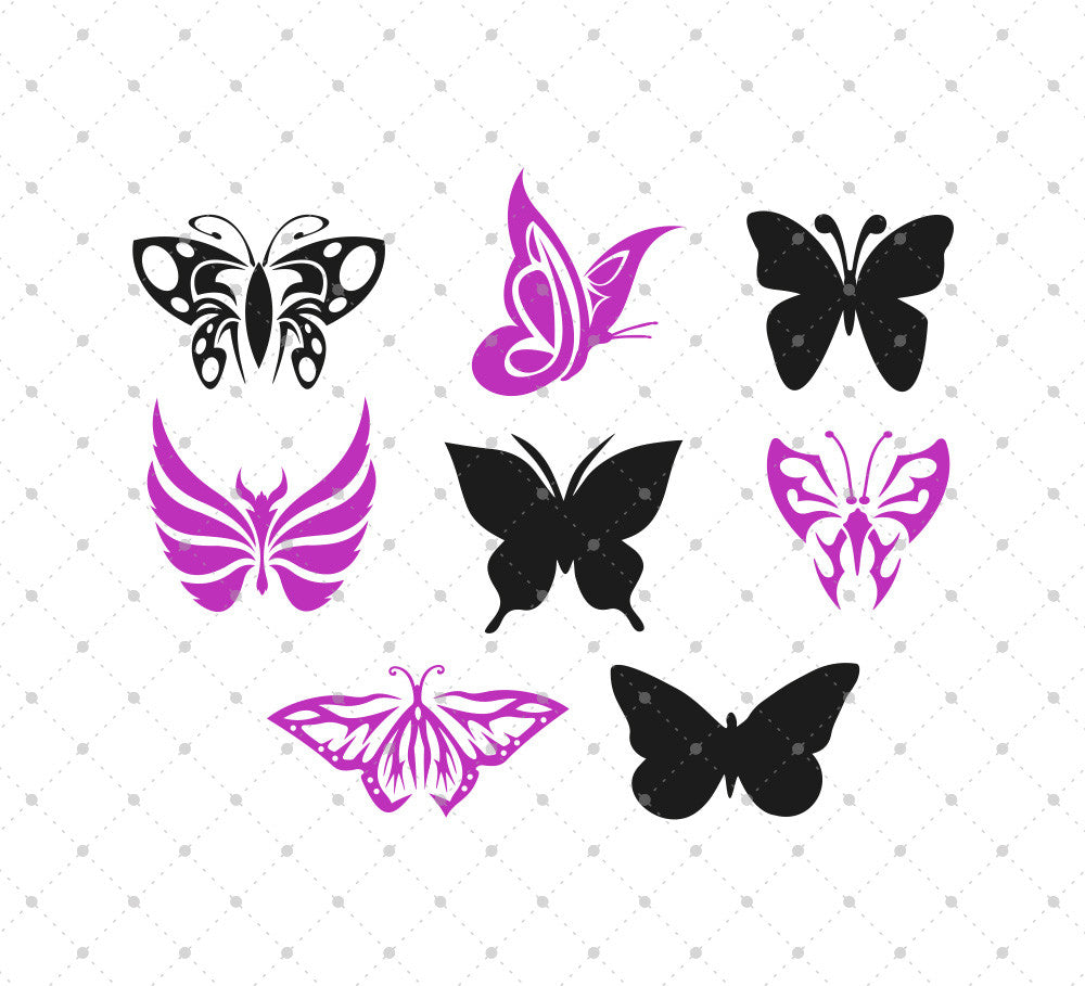 SVG files for Cricut Butterflies SVG Cut Files Silhouette Studio3 files PNG clipart free svg by SVG Cut Studio