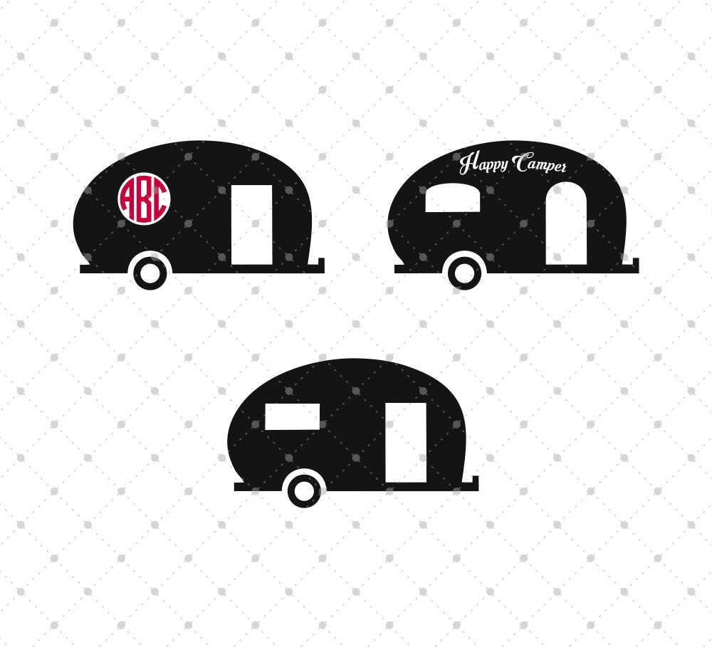 Vintage Camper SVG Cut Files - SVG DXF PNG cut cutting files for Cricut and Silhouette by SVG Cut Studio