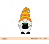 Halloween Fall Cauldron Gnome SVG Files