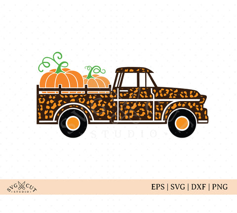 Cheetah Vintage Farm Truck SVG