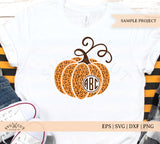 Cheetah pumpkin svg plaid pumpkin svg fall pumpkin monogram svg