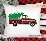 Cheetah Christmas Vintage Truck SVG files