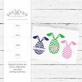 Chevron Easter Eggs SVG Cut Files