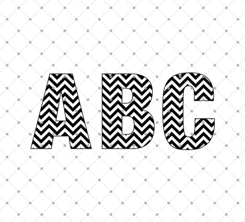 Chevron Alphabet Cut files - SVG Cut Studio