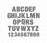 Chevron Alphabet Cut files for Cricut Silhouette printable png dxf clipart and free svg files by SVG Cut Studio