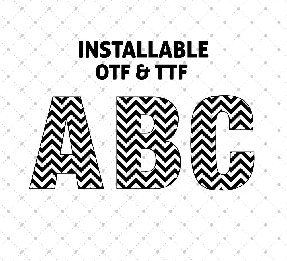 Installable Chevron Pattern Font