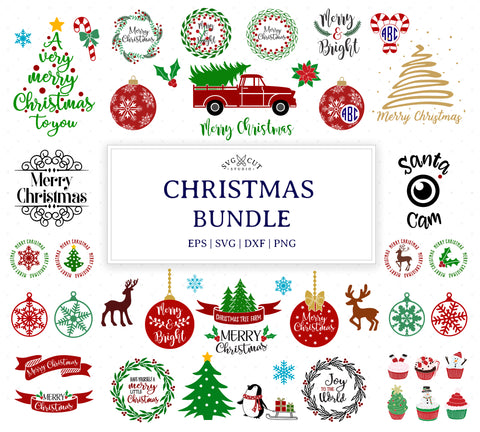 Christmas svg bundle, Christmas svg files for Cricut and Silhouette