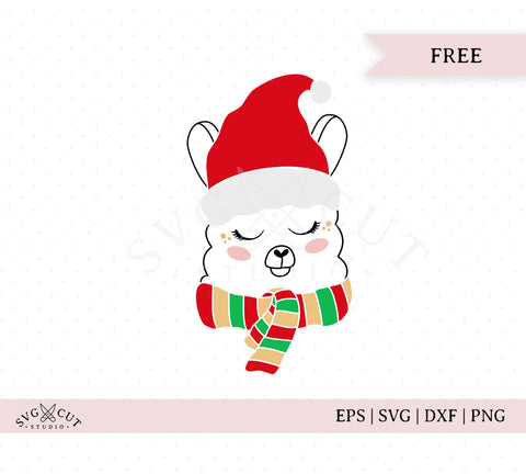 Christmas Llama SVG Cut Files