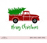 Christmas Vintage Truck SVG files