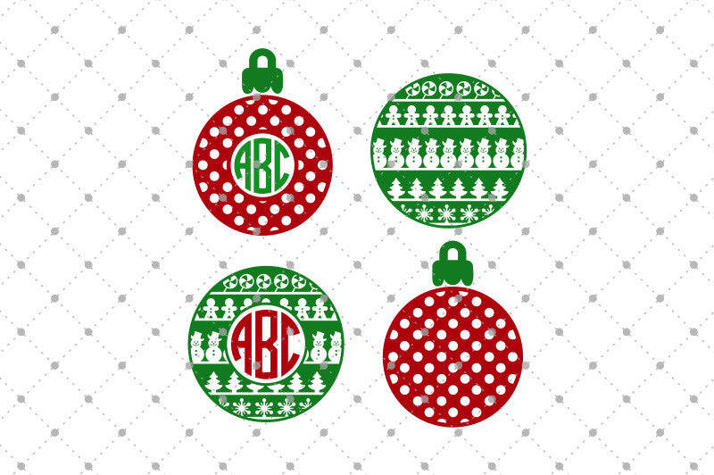 Christmas Ball Monogram SVG files