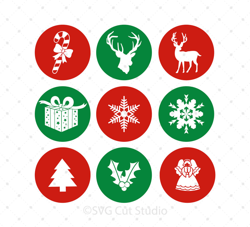 Christmas Badge SVG Cut files