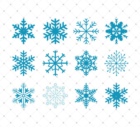 Christmas Snowflakes SVG Cut files