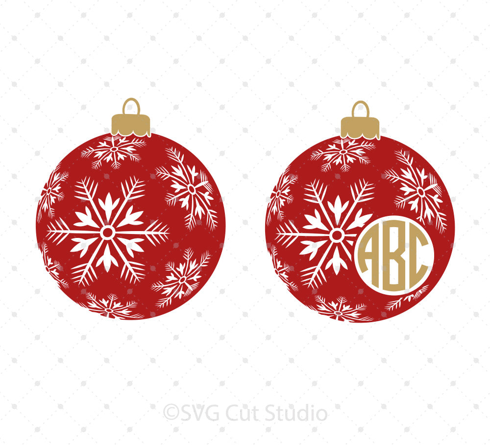Christmas Tree Snowflakes Balls SVG Cut files