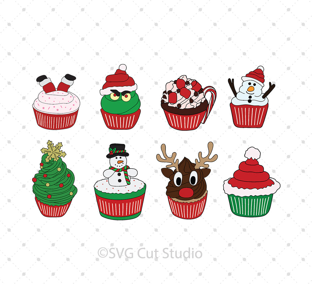 Christmas Cupcake svg files