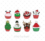 Christmas Cupcakes svg files