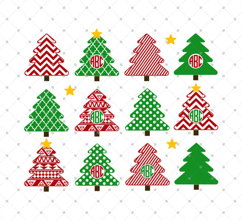 Christmas Tree SVG Cut files - SVG DXF PNG cut cutting files for Cricut and Silhouette by SVG Cut Studio