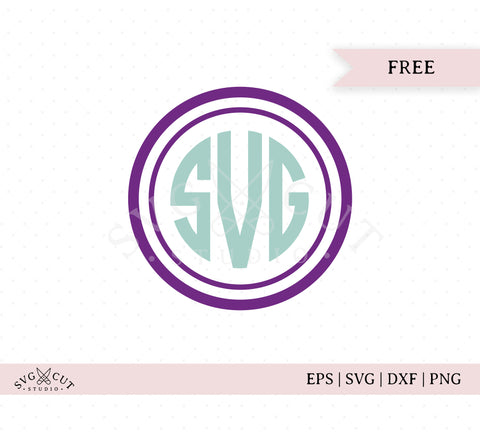Free Circle Monogram Frame SVG Cut Files