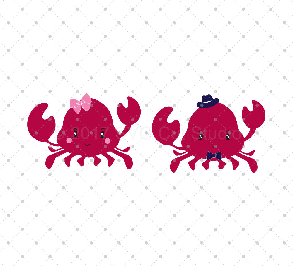 Crab SVG Cut Files - SVG DXF PNG cut cutting files for Cricut and Silhouette by SVG Cut Studio