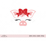 Cute Pig Face SVG Cut Files