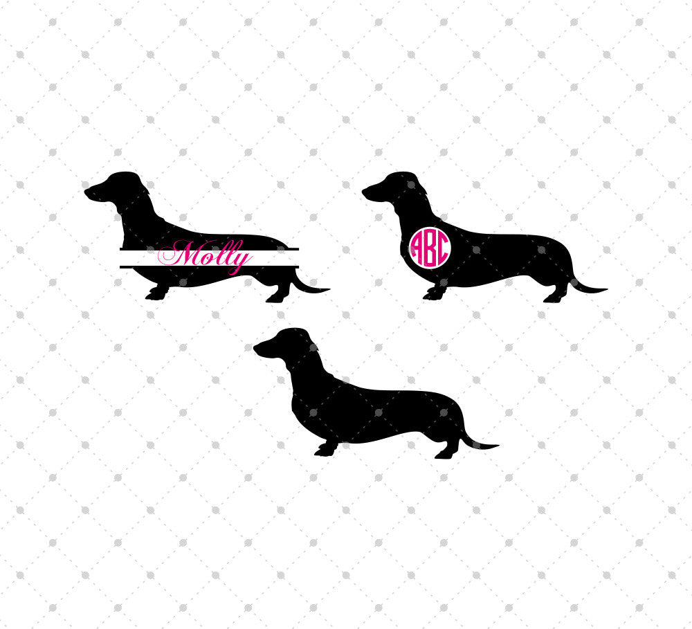 SVG files for Cricut Dachshund SVG Cut Files Silhouette Studio3 files PNG clipart free svg by SVG Cut Studio
