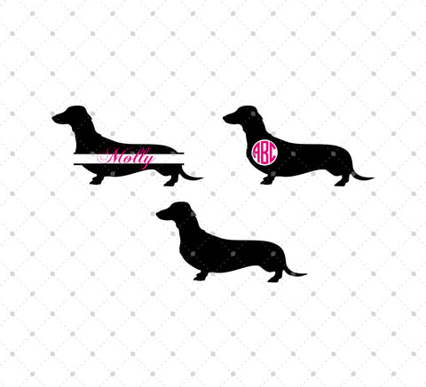 Dachshund SVG Cut Files - SVG Cut Studio