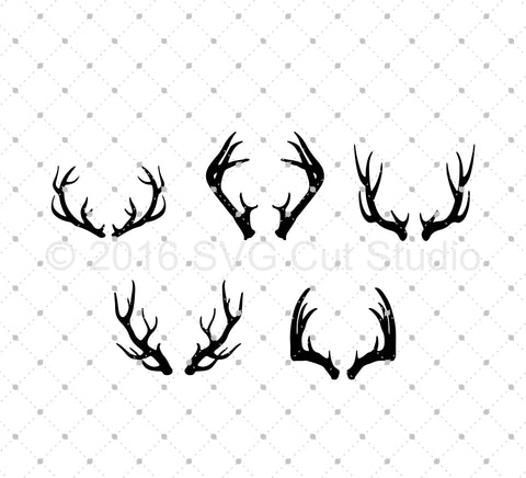 Antlers SVG Cut Files at SVG Cut Studio
