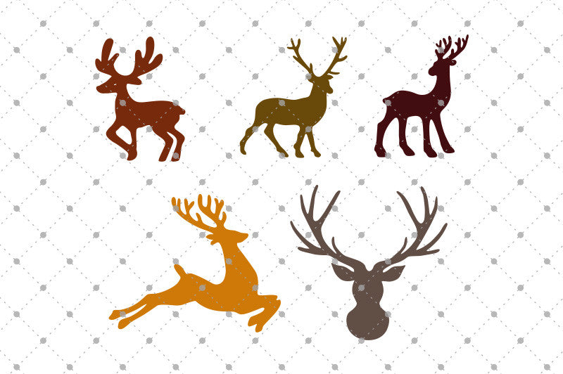 SVG files for Cricut Deer SVG Cut Files Silhouette Studio3 files PNG clipart free svg by SVG Cut Studio