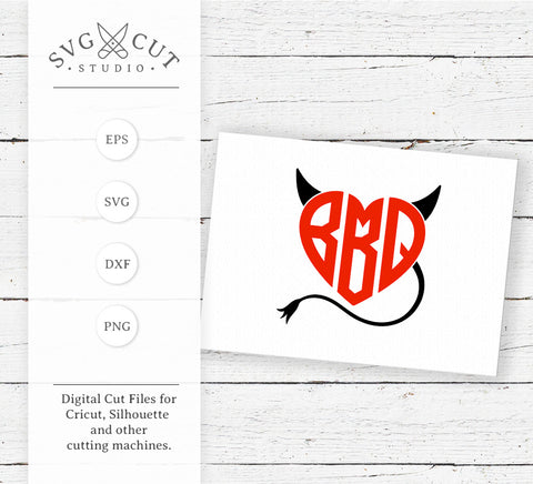 Barbeque BBQ Devil SVG Cut Files