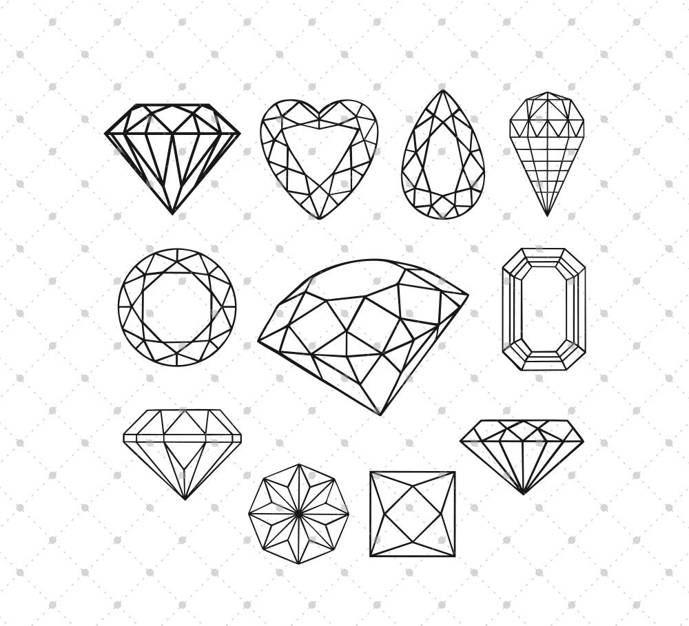 Diamond SVG Cut Files
