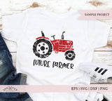Distressed Grunge Tractor SVG Cut Files